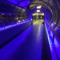 Edelstahl Fechten mit LED Beleuchtung