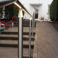 Contruction outdoor fence with LED lichting