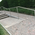 Stainless steel handrail posts with LED lighting ILLUNOX