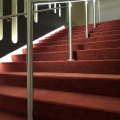 Stainless steel handrail with lighting on posts