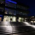 Illuminated stainless steel balustrade