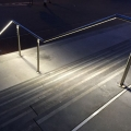 Stainless steel handrail with lighting