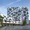 Impressie Hilton Hotel Schiphol door Mecanoo overdag