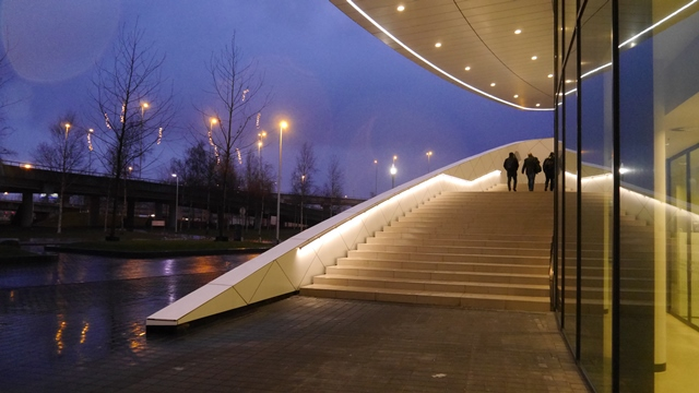 RVS Trapleuning met LED Verlichting als armatuur